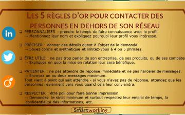 Regles d'or du contact sur les réseaux sociaux