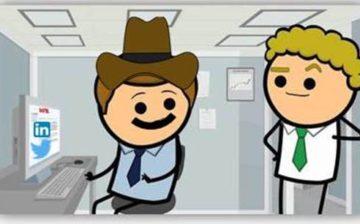 Social cowboy sur son lieu de travail