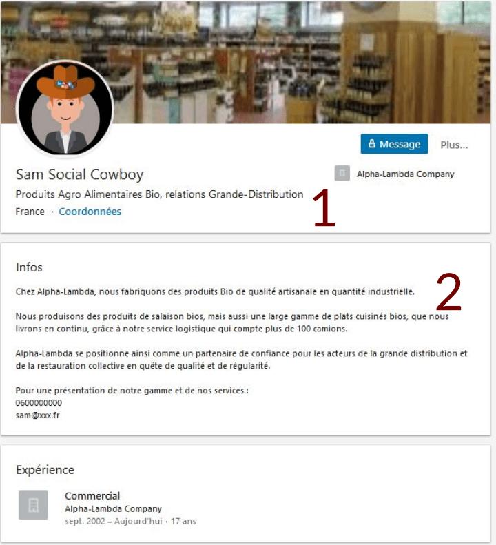 Profil Commercial de Sam Social Cowboy, il n'est pas encore prêt pour faire du Social Selling...